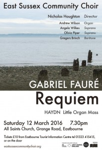 Community Choir Faure concert poster