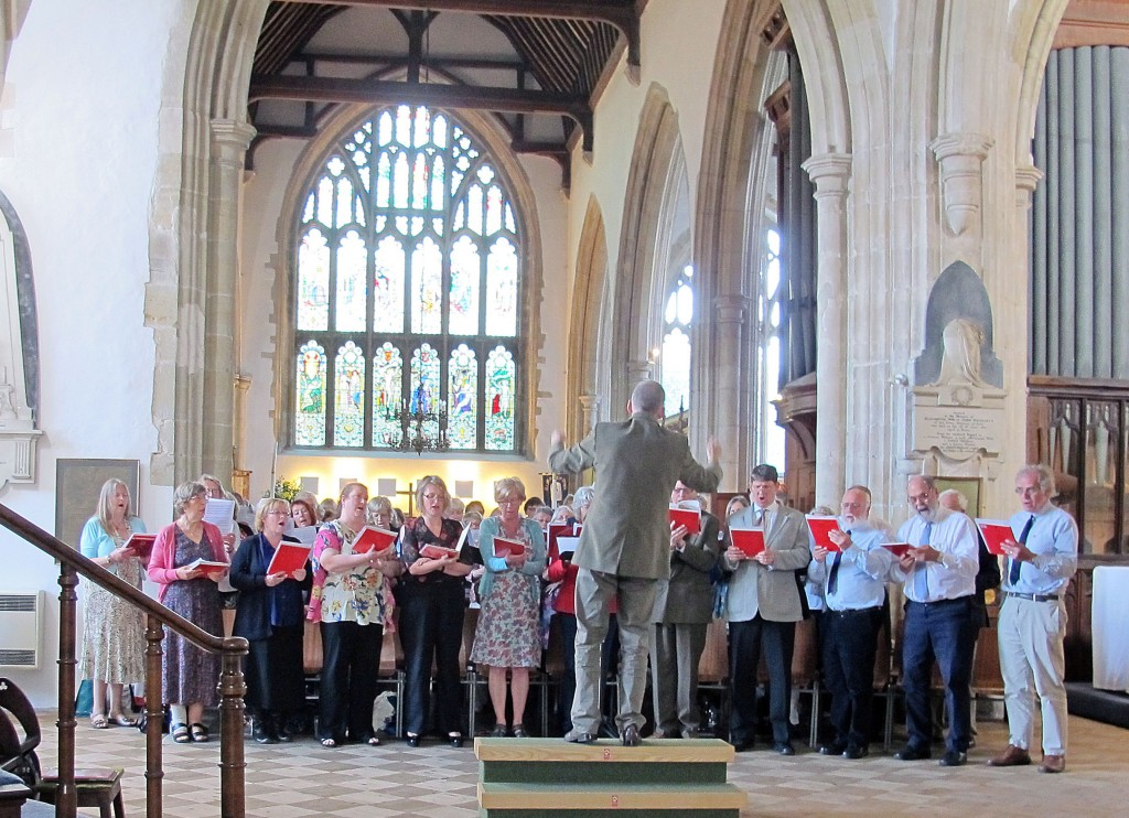 East Sussex Community Choir performing at Rye