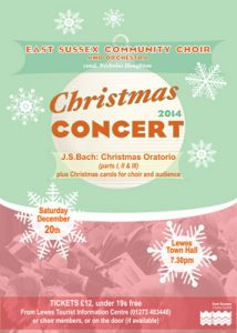 Choir Xmas 2014 poster