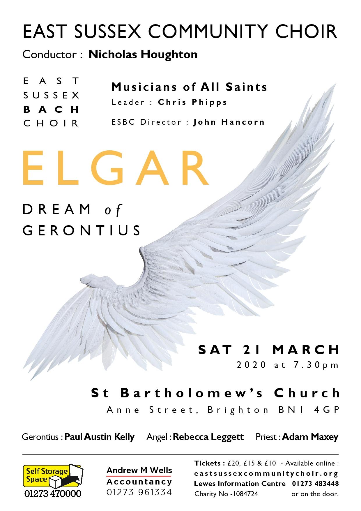 Dream of Gerontius concert poster